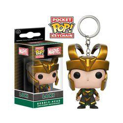 LLAVERO POCKET POP! MARVEL COMICS (LOKI)