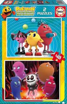 PAC-MAN 2xPUZZLE 48 PIEZAS