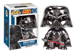 FIGURA POP! STAR WARS (DARTH VADER CHROME)