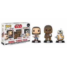 FIGURA POP! STAR WARS EPISODE VIII (REBEL THREE PACK)