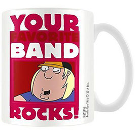 TAZA FAMILY GUY/PADRE DE FAMILIA - YOUR FAVORITE BAND ROCKS!
