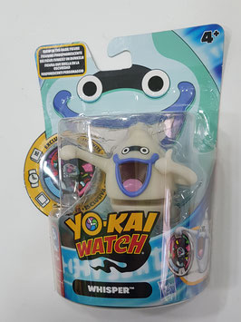 FIGURA CON MEDALLA YO-KAI WATCH (WHISPER FLORESCENTE)
