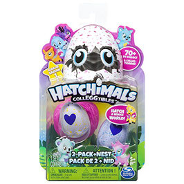 HATCHIMALS PACK 2 FIGURAS CON NIDO