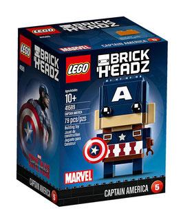 LEGO BRICK HEADZ CAPITAN AMERICA 41589