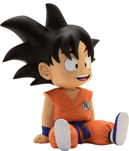 MINI HUCHA DRAGON BALL GOKU  SENTADO PLASTOY