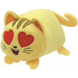 PELUCHE TEENY TY EMOJI (CAT WITH HEARTS EYES)