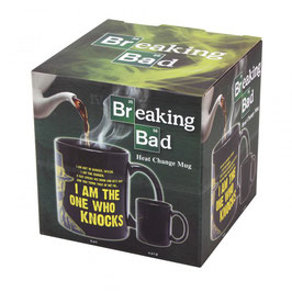 "TAZA BREAKING BAD SENSITIVA AL CALOR ""I AM THE ONE WHO KNOCKS"""
