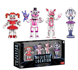PACK 4 FIGURAS - FIVE NIGHTS AT FREDDY'S (SISTER LOCATION)