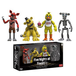 PACK 4 FIGURAS - FIVE NIGHTS AT FREDDY'S (SET ONE)