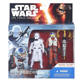 STAR WARS THE FORCE AWAKENS - FIRST ORDER SNOWTROOPER OFFICER-SNAP WEXLEY