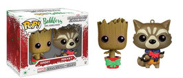 PACK 2 FIGURAS MINI WACKY WOBBLERS XMAS (GROOT & ROCKET RACOON)