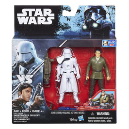 STAR WARS SNOWTROOPER OFFICER & POE MAERON