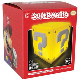 SUPER MARIO LAMPARILLA SONIDO QUESTION BLOCK 8CM