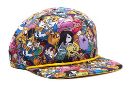 GORRA BÉISBOL SNAP BACK HORA DE AVENTURAS  ALL OVER PRINT