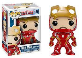 FIGURA POP! CIVIL WAR (IRON MAN UNMASKED)