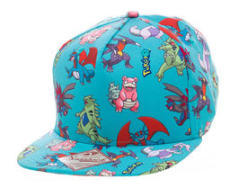 GORRA POKEMON BÉISBOL SNAP BAKC CHARACTERS ALL OVER