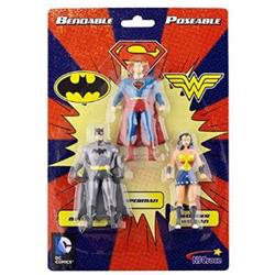 FIGURAS JUSTICE LEAGUE DC COMICS Bendable/Poseable - PACK DE 3