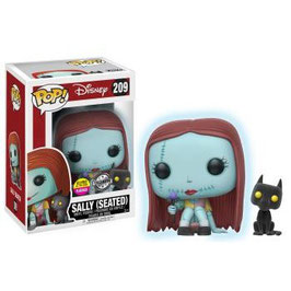 FIGURA POP! PESADILLA ANTES DE NAVIDAD (SEATED SALLY WITH CAT FLOCKED)