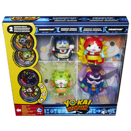 PACK 4 FIGURAS CON MEDALLAS YO-KAI WATCH