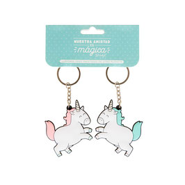 MR.WONDERFUL SET DE 2 LLAVEROS DE CAUCHO UNICORNIO