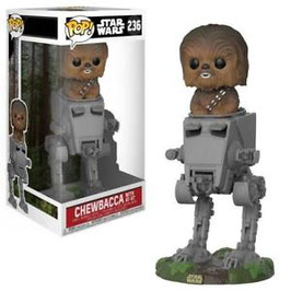 FIGURA POP! STAR WARS (CHEWBACCA WITH AT-ST 10CM)