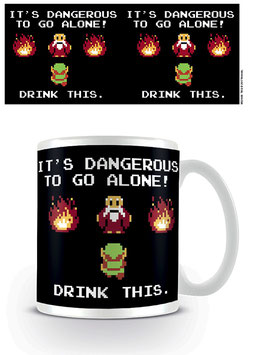 LEGEND OF ZELDA TAZA DRINK THIS