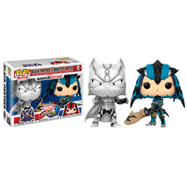 FIGURA POP! MARVEL VS CAPCOM INFINITE PACK 2 (BLACK PANTHER VS MONSTER HUNTER)