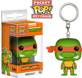 LLAVERO POCKET POP! TORTUGAS NINJA (MICHELANGELO)