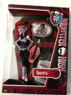 MUÑECA OPERETTA MONSTER HIGH COMPLEMENTOS