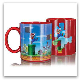 TAZA SUPER MARIO LEVEL SENSITIVA AL CALOR (COLOR ROJA)