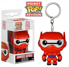 LLAVERO POCKET POP! 6 HÉROES (ARMORED BAYMAX)