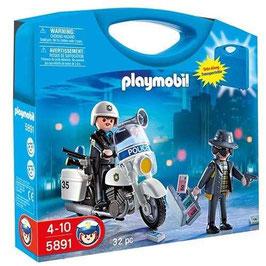 PLAYMOBIL MALETÍN POLICIA LADRÓN 5891