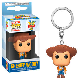 LLAVERO POCKET POP! TOY STORY 4 (SHERIFF WOODY)