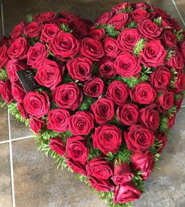 Coeur de roses rouges Mercure