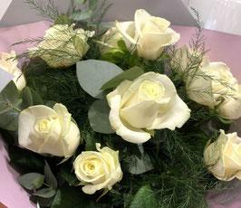 Bouquet de roses blanches Chiara