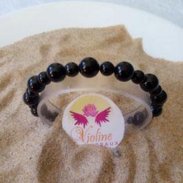 spinelle noire, bracelet perles 6-8mm