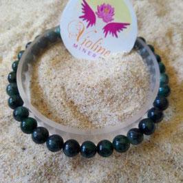 émeraude racine, bracelet perles 6mm
