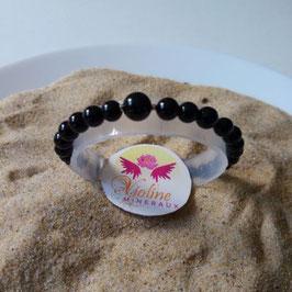 Tourmaline noire, bracelet perles  6mm - 8mm