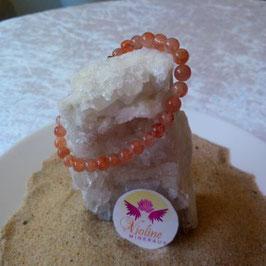 pierre de soleil extra, bracelet perles 6mm
