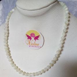 Nacre, collier perles 6mm