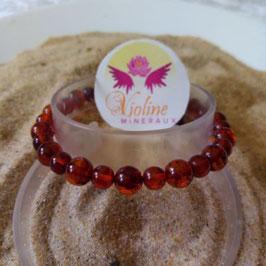 ambre baltique, bracelet perles rondes 6-8mm