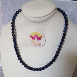 lapis lazuli, collier perles 6mm