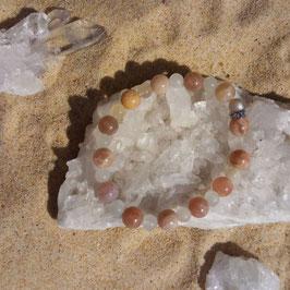 pierre de lune, bracelet perles 6mm - 8mm