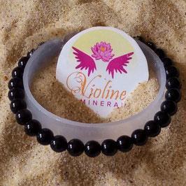 Tourmaline noire, bracelet perles 6mm