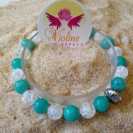 amazonite quartz, bracelet perles 8mm