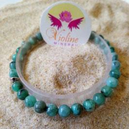 Racine d'émeraude extra, bracelet perles 7mm