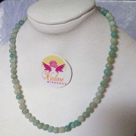 amazonite, collier perles 6mm