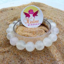 Sélénite, bracelet perles 10mm