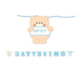 Maxi Festone Battesimo Teddy 6Mt