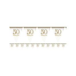 Bandierina 50° Anniversario argento oro